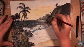 How to Draw a Hawaiian Sunset