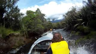 Jet boating in Westland , New Zealand