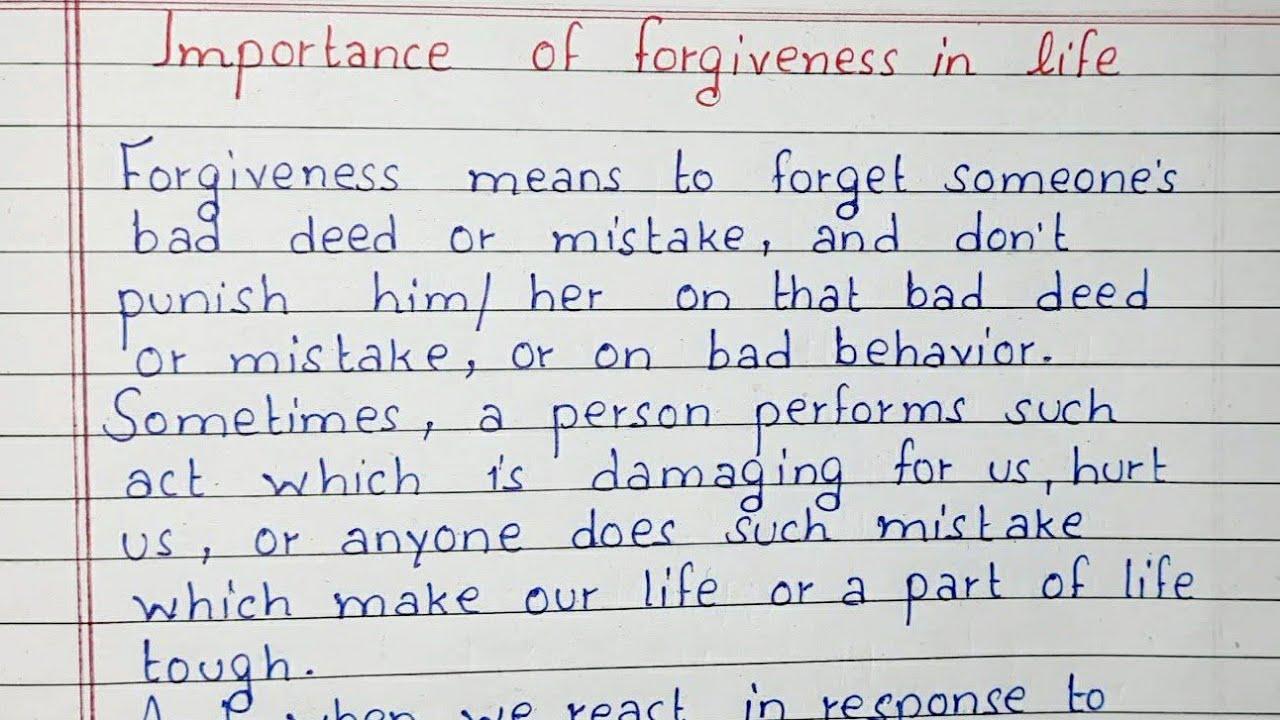 essays on forgiveness