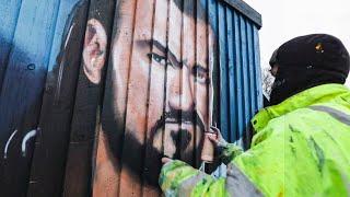 WrestleMania 37 Graffiti Murals Time-lapse