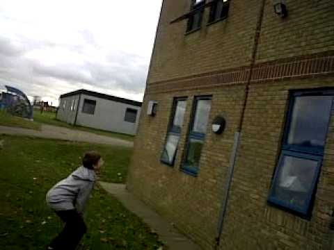 oliver throwing rubber through science teachers window :S