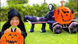 سينيا بجمع قصص الرعب هالوين الحلويات للأطفال