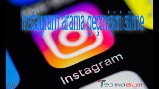 instagram arama geçmişini silme