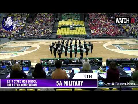 5A Layton High School Drill Team Overall 5th 2017 Utah State Competition