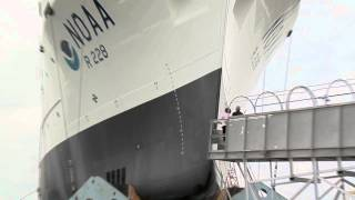 B-Roll:  Christening and Launch of the NOAA Ship Reuben Lasker