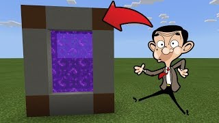 How To Make a Portal to the Mr Bean Dimension in MCPE (Minecraft PE)
