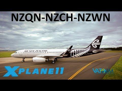 X-Plane 11 | New Zealand X2!! | A320 A319 | VATSIM |  Queenstown, Christchurch & Welllington!!