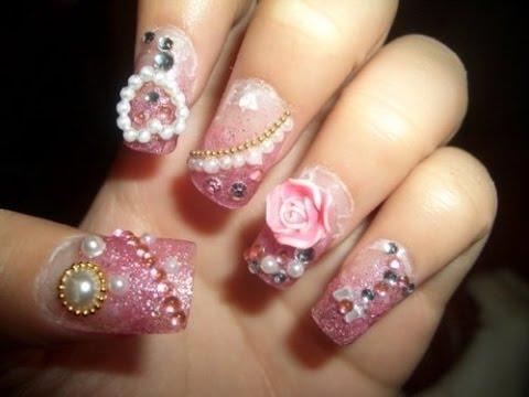 Nail Art (Japanese Nails Art) \ Girly Gel Nail Art   Japanese Nails ♡