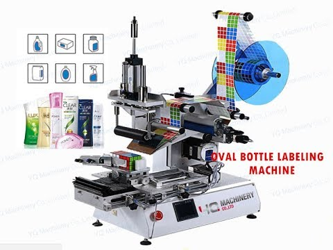 Rolling Type Labeling Machinery For Oval Bottle Sticker Label Applicator
