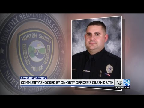 Community responds to death of Norton Shores officer