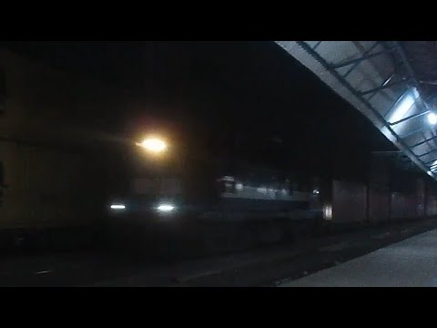The Crossing of  Mighty Freights| Double Stack container Freights:- Indian railways!!