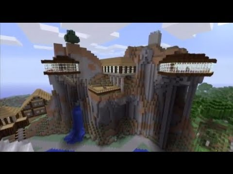 Minecraft Showcase Cliff House YouTube