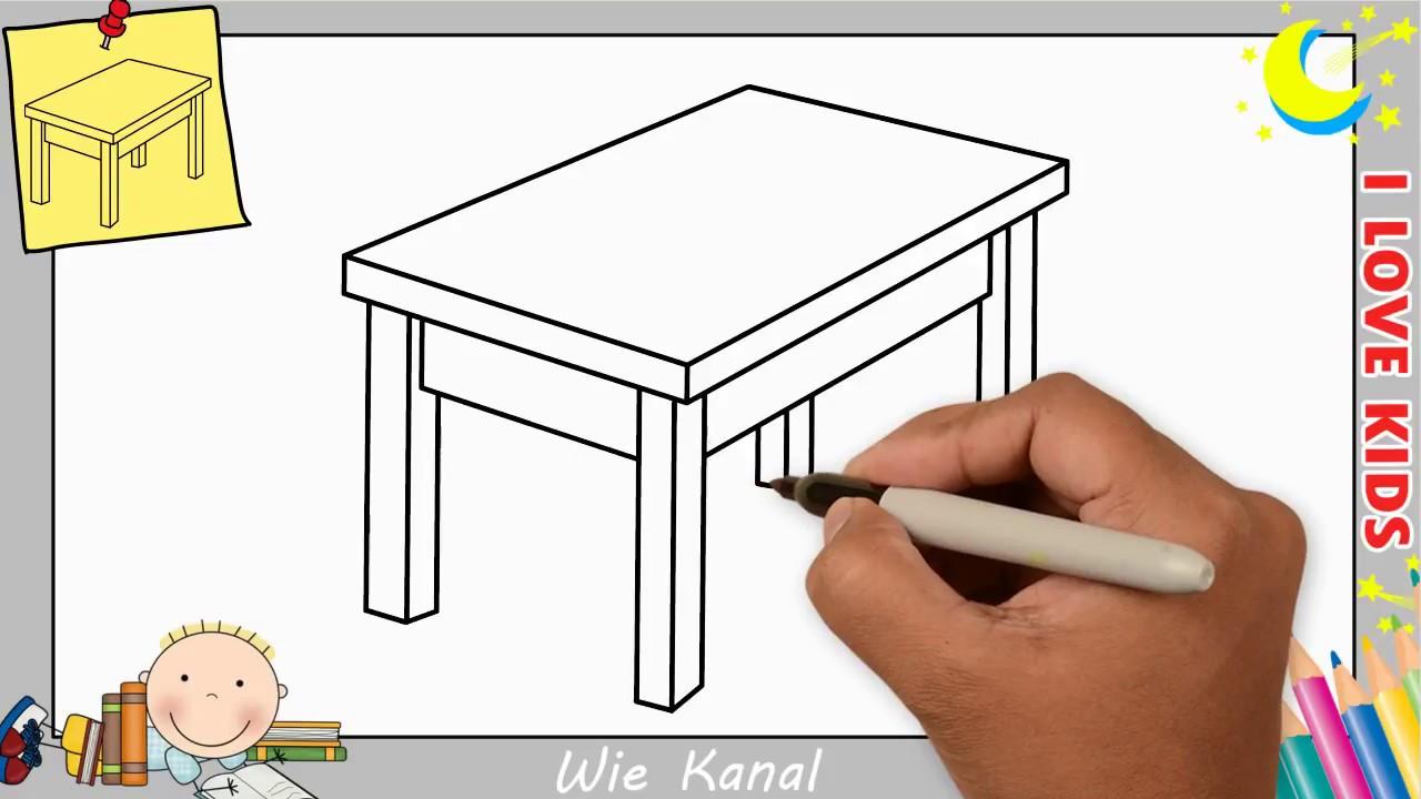 Tisch Zeichnen Lernen Einfach Schritt Für Schritt Für Anfänger
