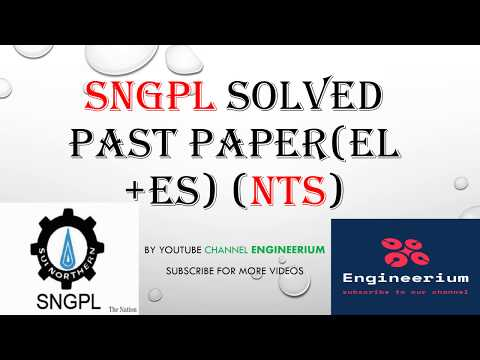 NTS SNGPL past paper solved