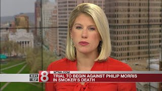 A trial is set to begin in a lawsuit against Philip Morris in conne...