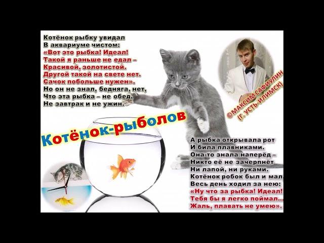 Изображение предпросмотра прочтения – КсенияКулик читает произведение «Котёнок-рыболов» М.С.Сафиулина