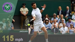 Novak Djokovic vs Roberto Bautista Agut Wimbledon 2019 semi-final highlights
