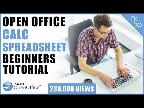 Open Office 4 - Calc Spreadsheet Beginners Tutorial - DCP Web Designers Tutorial