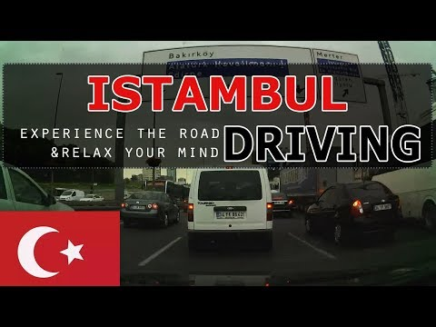 Driving through Istambul from asia to europe