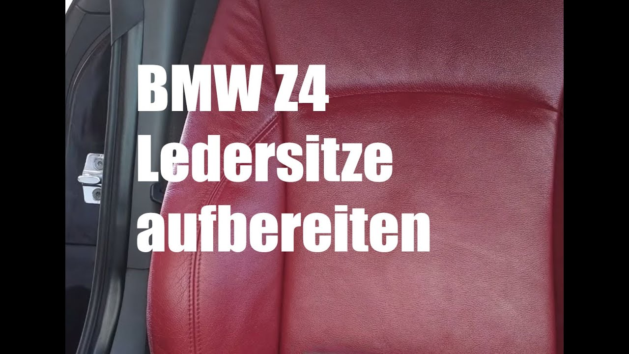 bmw z4 ledersitze aufbereiten mit colourlock lederfplege. Black Bedroom Furniture Sets. Home Design Ideas