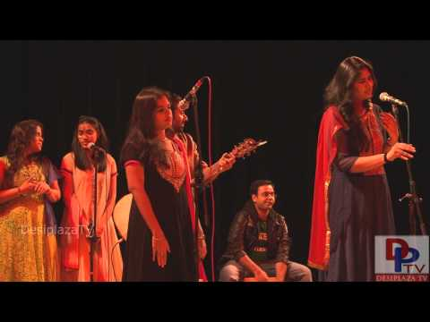 Students singing a Tamil song at UTA Indian Culture Council (ICC) event