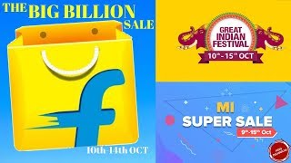 FLIPKART BIG BILLION SALE & AMAZON GREAT INDIAN FESTIVAL @FLAT DISCOUNT, CASHBACK OFFER & MANY MORE