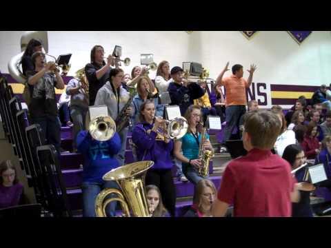 Wipeout - 1:50!  Kewaunee High School Pep  Band