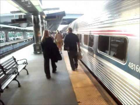 Boarding the Amtrak Downeaster at Boston North Station