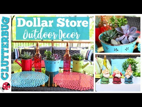 Outdoor Patio Decor Ideas from The Dollar Store!