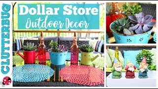 Gambar cover Outdoor Patio Decor Ideas from The Dollar Store!