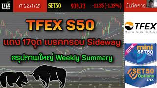 TFEX S50 แดง17จุด เบรคกรอบ Sideway | สรุปภาพใหญ่ Weekly Summary - บันทึกการเทรด พอร์ทจริง 22/01/2021