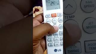 LG dual inverter Ac remote manual in hindi