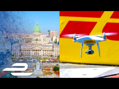 DHL Aerial City Shots In Buenos Aires - Formula E