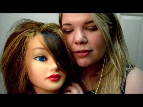 Brushing Hair for ASMR - Mannequin/ Fake Head and Whispering