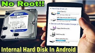 How To Connect Internal Hard Disk Drive To Android Mobile (No Root) #Tutorial #Yourtechhelper