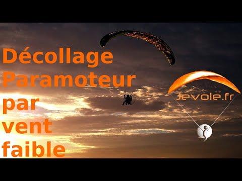 Décollage + attero paramoteur vent faible 5km/h