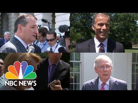 Senate Republicans React Following White House Health Care Meeting   NBC News