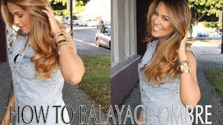 how to balayage ombre step by step Thumbnail