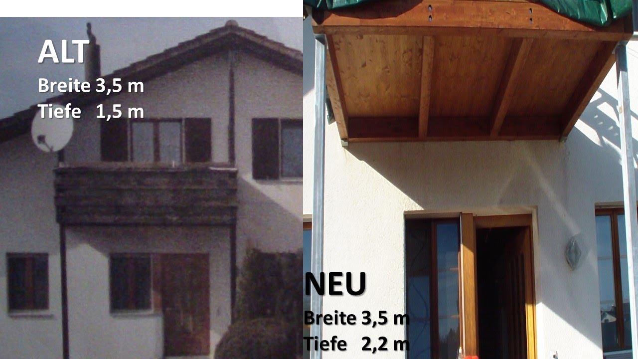 balkon ersetzen unterkonstruktion st tzen teil 2 youtube. Black Bedroom Furniture Sets. Home Design Ideas