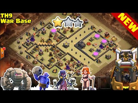 TH9 WAR BASE 2016 With BOMB TOWER  VS TH11 TH10 MAX TROOP ♦ October 2016 Update! ♦ Clash Of Clans