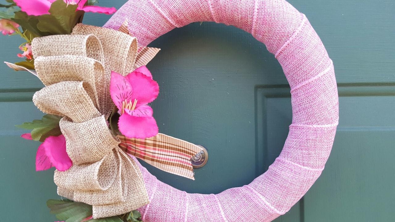 Easy Burlap Wreath Diy Dollar Tree Youtube