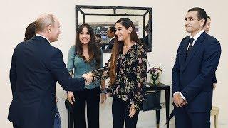 Putin Bakıda İlham Əliyev və ailə üzvləri ilə görüşdü