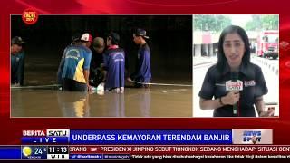 Petugas Masih Sedot Air di Underpass Kemayoran