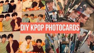 diy kpop photocards!