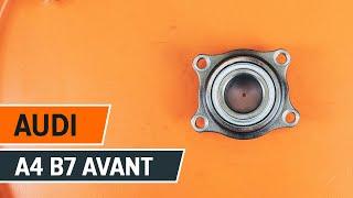 Hur och när byter man Hjullagersats bak vänster höger AUDI A4 Avant (8ED, B7): videohandledning