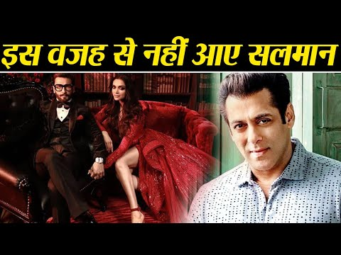 Deepika & Ranveer Reception: Reason why Salman Khan was not present in the B-Town Bash | Boldsky