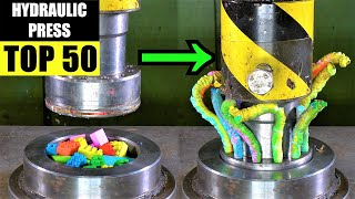TOP 50 BEST Hydraulic Press WORM Moments | Satisfying Crushing Compilation