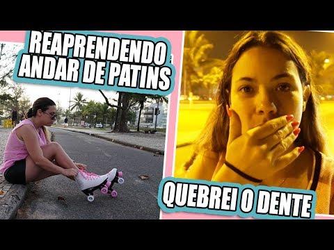 ANDANDO DE PATINS + QUEBREI MEU DENTE | Kathy Castricini