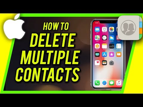 How To Delete Multiple Or All Contacts From Your iPhone iPad and iPod Touch.