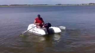 Лодка надувная Jilong Z-RAY I 300 + мотор ZONGSHEN-SELVA 5ph, на озере Кривое, Завьялово